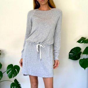Silence & Noise M Grey Sweatshirt Dress NWOT